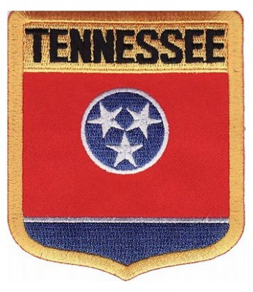 Tennessee State Flag Shield Patch, 50 State Flag Patches