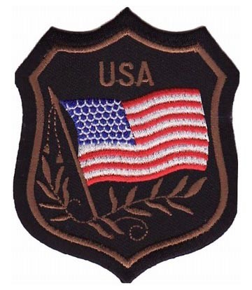 American Flag USA Crest Patch, U.S. Flag Patches