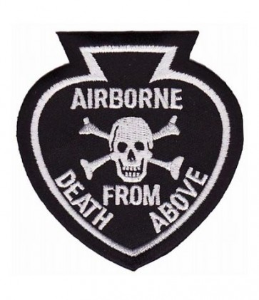 Airborne Spade & Skull Black Patch, Airborne Patches