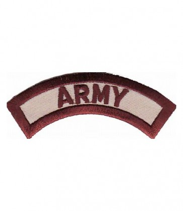Army Desert Tan Rocker Patch, U.S. Army Patches