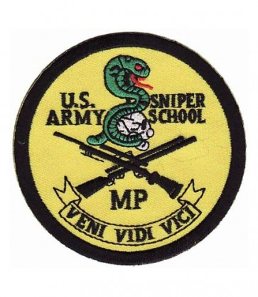 U.S. Army Sniper School Patch, Military Insignia Patches