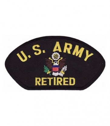 U.S. Army Retired Hat Patch, Military Cap Patches