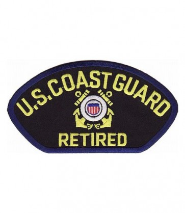 Coast Guard Retired Hat Patch, Military Cap Patches