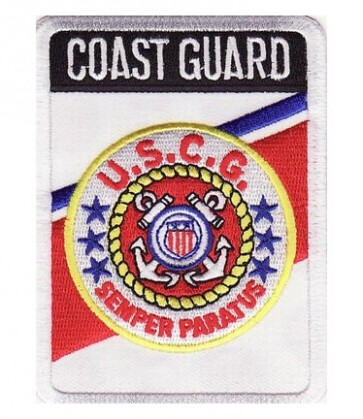 Coast Guard Rectangle Patch, Coast Guard Patches