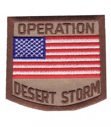 Desert Storm American Flag Patch, Military Patches