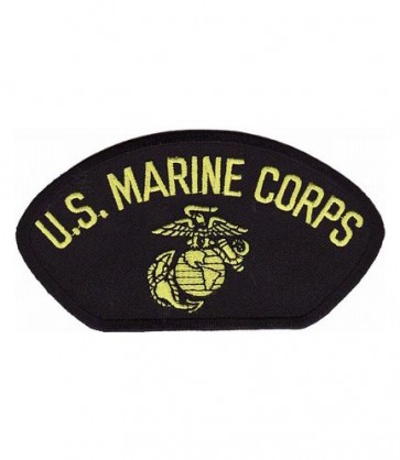 U.S. Marine Corps Black Hat Patch, Military Cap Patches