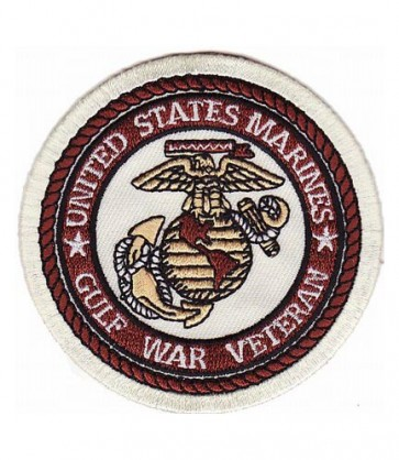 Marines Gulf War Veteran Patch, Military Vet Patches