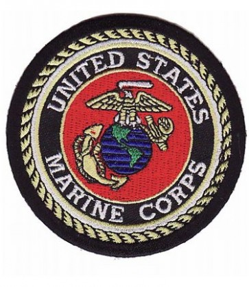 U.S. Marine Corps EGA Black Patch, Military Patches