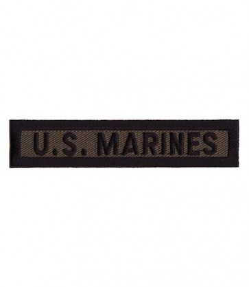 Marines Green & Black Tab Patch, U.S. Marines Patches