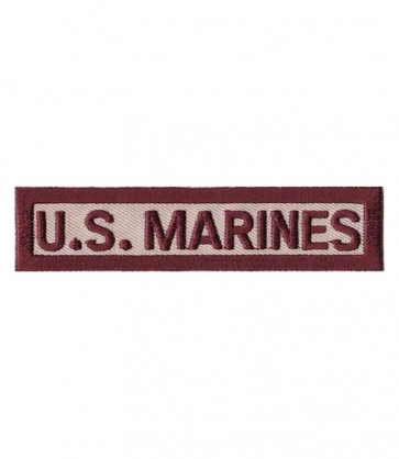 U.S. Marines Desert Tan Tab Patch, U.S. Marines Patches