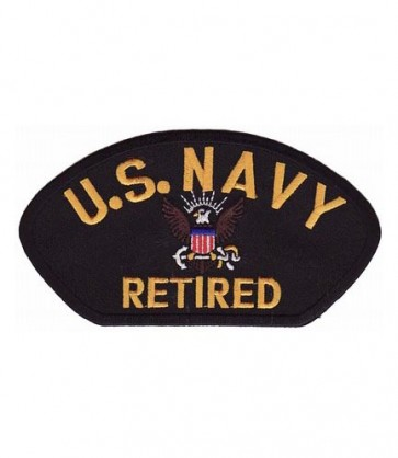 U.S. Navy Retired Hat Patch, Military Cap Patches
