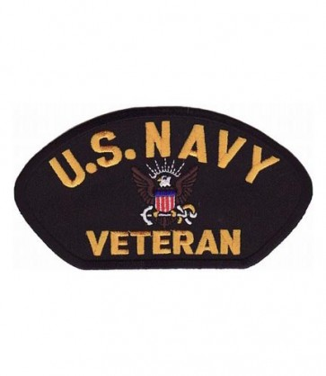 U.S. Navy Veteran Hat Patch, Military Cap Patches