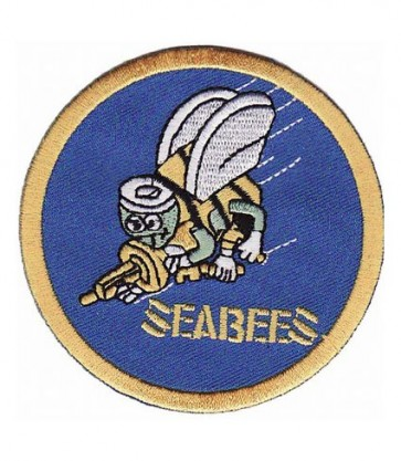U.S. Navy Seabees Patch, Navy Military Patches