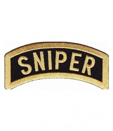 Army Sniper Rocker Tab Patch, Military Uniform Patches