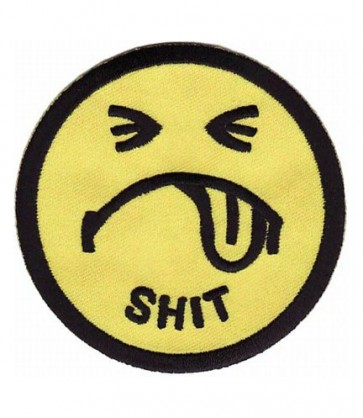 Shit Frowning Face Patch, Smiley Face Patches
