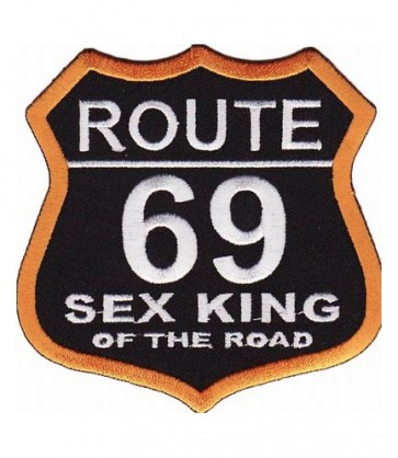 Route 69 Sex King Road Sign Patch, Biker Patches