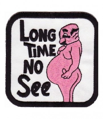 Long Time No See Naked Man Patch, Funny Patches
