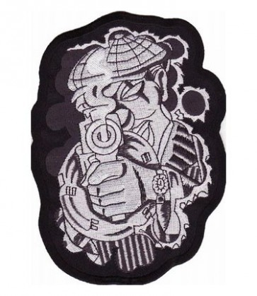 Shooting 1920's Gangster Patch, Gun Patches