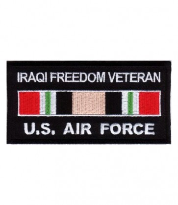 Air Force Iraq Veteran Service Ribbon Patch, Miltiary Patches