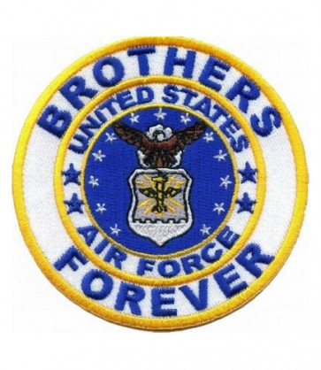 Brothers Forever Air Force Round Patch, Air Force Patches