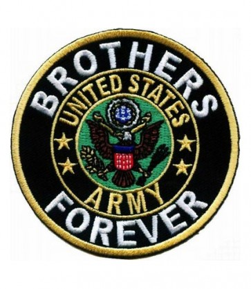 Brothers Forever Army Round Patch, U.S. Army Patches
