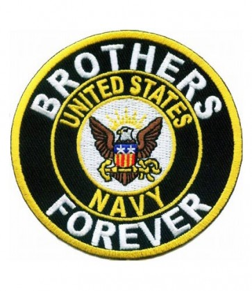 Brothers Forever Navy Round Patch, U.S. Navy Patches