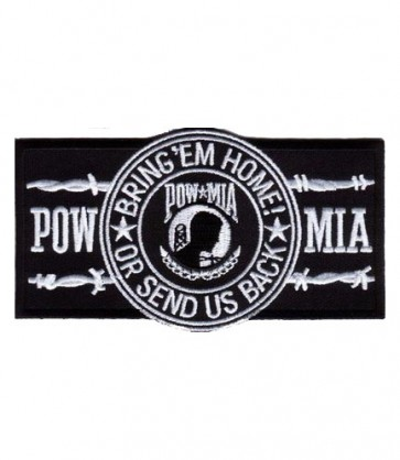 POW White Barbed Wire Patch, POW MIA Patches