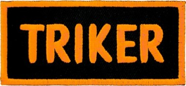 Embroidered Triker Orange & Black Patch