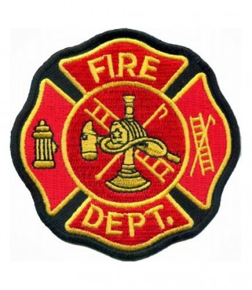 Fire Department Maltese Cross Patch, Firefighter Patches