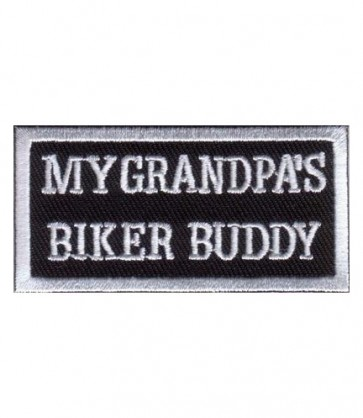 My Grandpa's Biker Buddy Patch, Kid's Biker Patch