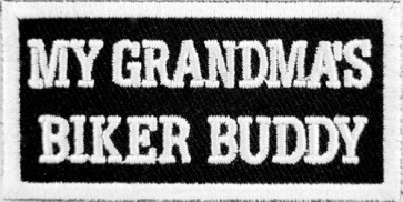My Grandma's Biker Buddy Patch, Kid's Biker Patches