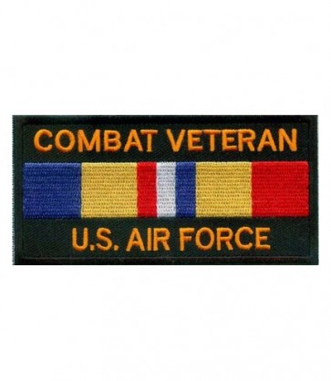 Air Force Combat Vet Service Ribbon Patch, Military Patches