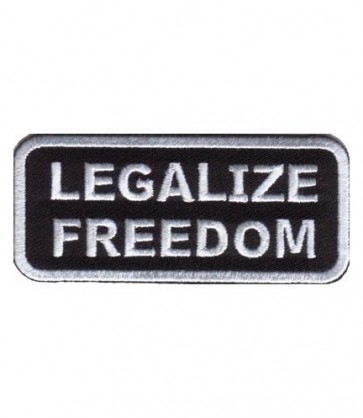 Legalize Freedom Black & White Patch, Patriotic Patches