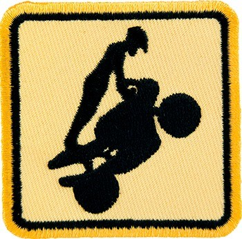 Sport Bike Wheelie Patch, Motorcycle Patches