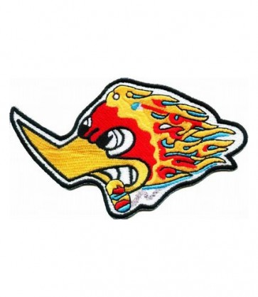 Flaming Duck With Cigar Patch, Biker Patches