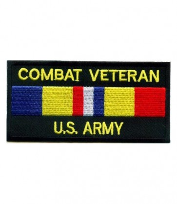 Army Combat Vet Service Ribbon Patch, Military Patches