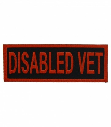 Disabled Vet Patch, Military Veteran Patches