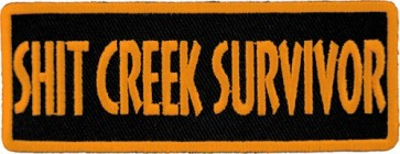 Shit Creek Survivor Patch, Funny Sayings Patches