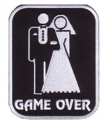 Game Over Bride & Groom Patch, Funny Patches