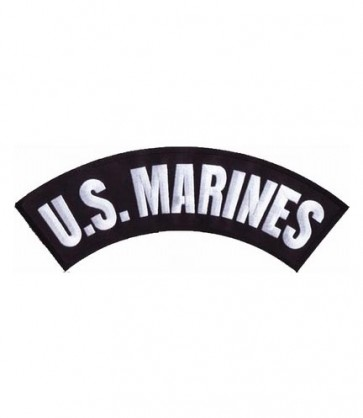 U.S. Marines Black Rocker Patch, Military Rocker Patches