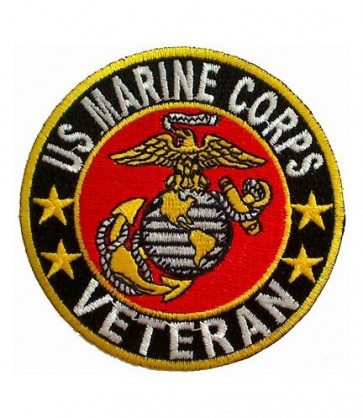 U.S. Marine Corps Veteran EGA Patch, Military Patches