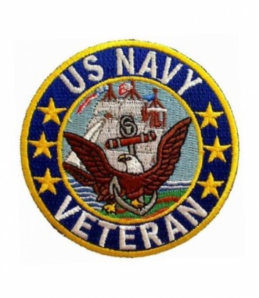 U.S. Navy Logo Veteran Patch, Military Veteran Patches