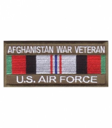 Air Force Afghanistan War Vet Service Ribbon Patches
