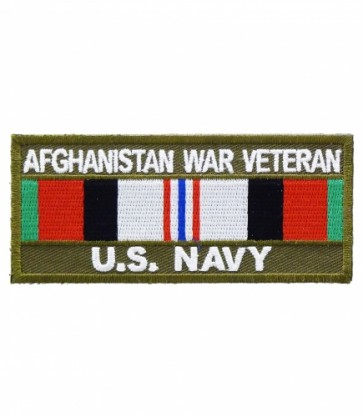 Navy Afghanistan War Vet Service Ribbon, Military Patches