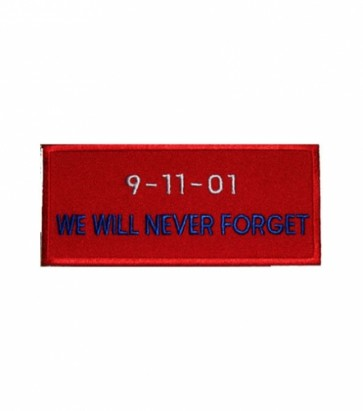 9-11-01 We Will Never Forget Patch, Patriotic Patches
