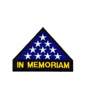 In Memoriam US Flag Patch, Fallen Soldier Patches