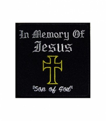 Jesus Son of God Cross Patch, Christian Patches