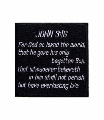 John 3:16 Scripture Patch, Christian Patches