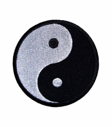 Yin-Yang Black & White Patch, Biker Patches