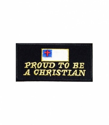 Proud To Be A Christian Flag Patch, Christian Patches